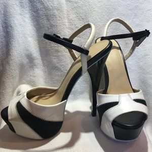 Black and White Gwen Stefani Stilettos